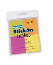 Stick On Notes Coloured